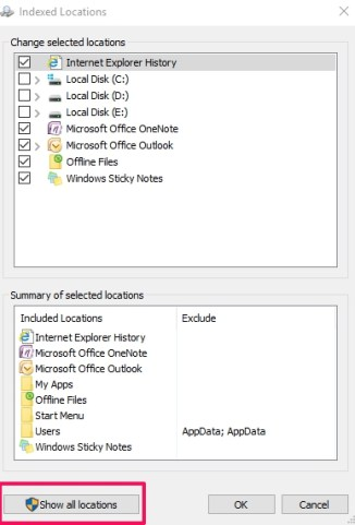 show_all_location_indexing_options_windows10