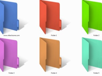 customize folders with differnet colors on windows 10
