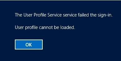 fix windows 10 user account login error
