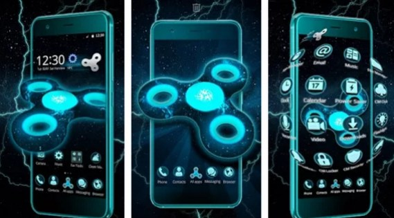 fidget spinner space 3d theme for pc download free