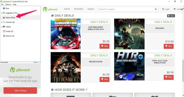 utorrent game store for windows