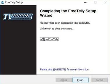 freetelly windows setup guide