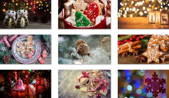 winter holiday glow theme windows 10