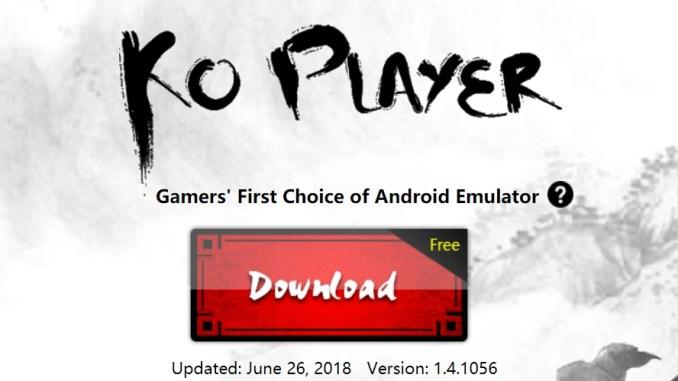 KOPlayer 2018 for Windows 10