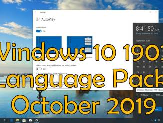 Windows 10 1902 Language Pack October 2019