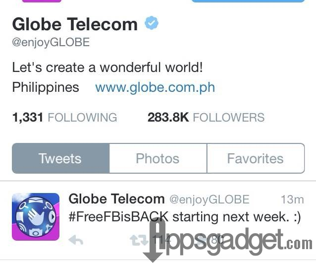 Globe Free Facebook is Back