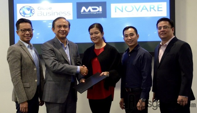 Globe Business cloud solutions powers the country's leading IT solutions firm MDI & Novare Technologies with a recent contract signing led by Rey Lugtu, Globe VP IT Enabled Services, Globe Chief Strategy Officer and Chief Operating Officer for Business and International Markets Gil Genio, Globe Business VP for Sales Dion Asencio, Chairman/CEO, MDI & Novare Myla Villanueva, and Head, Services Delivery, MDI & Novare Rico Salgado