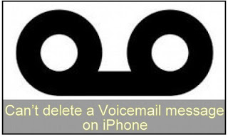 Cant delete a voicemail message on iphone ios 11ios 10ios 9 how to fix cant delete a voicemail message on iphone ios 9 m4hsunfo