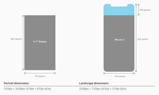 iPhone X Screen Sizes