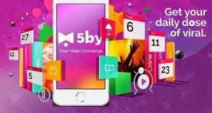 تطبيق 5by لإكتشاف فيديوهات الويب الرائعة للأندرويد