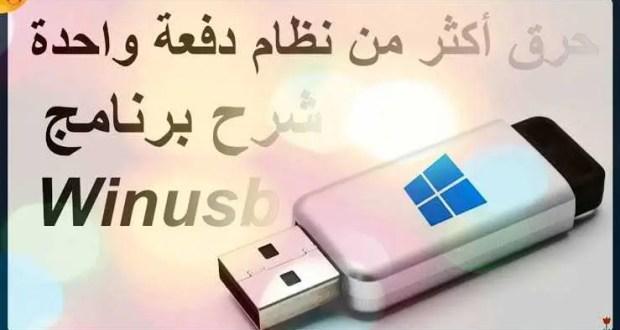 كيفية إستخدام برنامج WinUSB بطريقة مفصلة