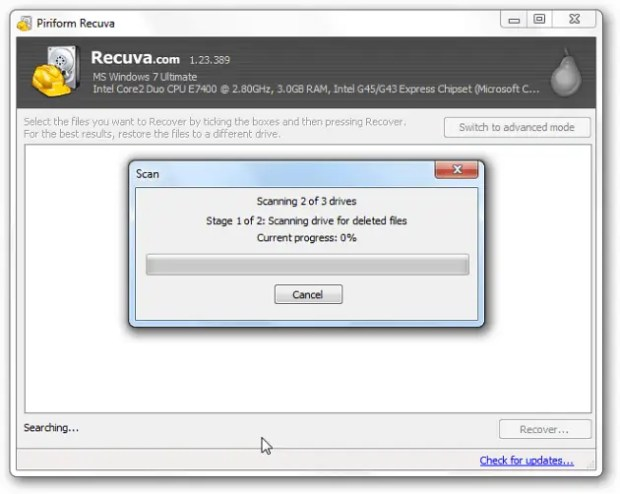 طريقة استخدام برنامج Recuva للكمبيوتر