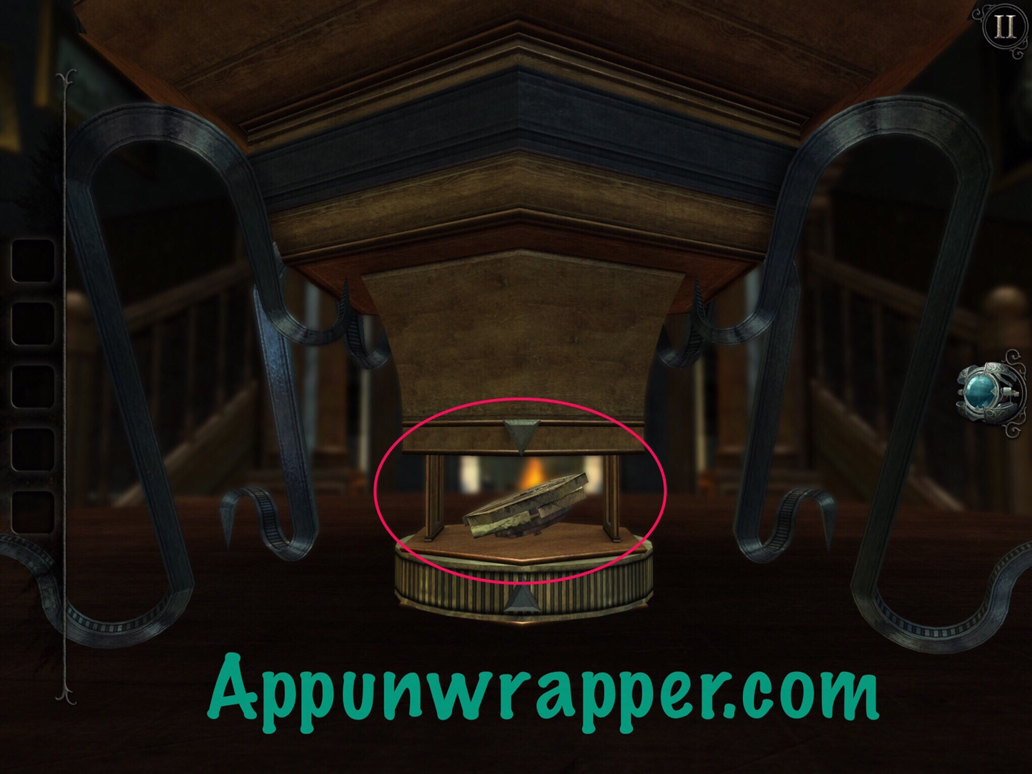 The Room  Old Sins  Complete Walkthrough Guide   App Unwrapper Then spin the piece on the bottom of the puzzle box to get a brass  mechanical coin  Open it up in your inventory and spread the pieces apart  to make a new
