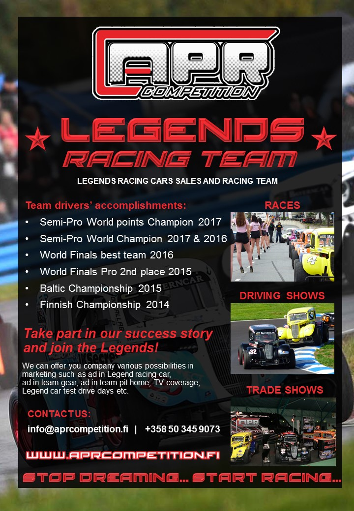 Don Auto World >> Legends Racing Team Apr Competition Oy