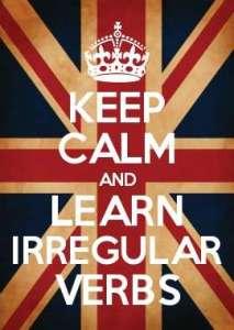 La lista de verbos irregulares en inglés en PDF