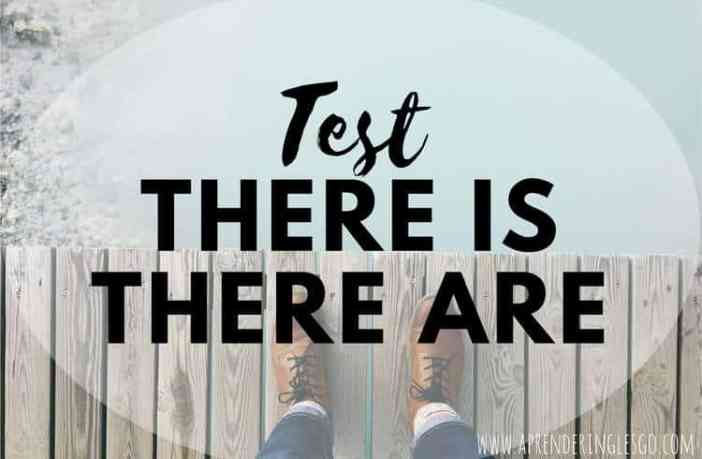 test there is y there are