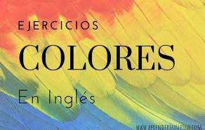 Ejercicios colores en inglés