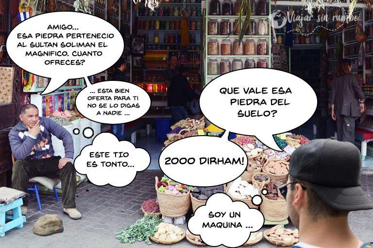 como regatear en un zoco de Marruecos