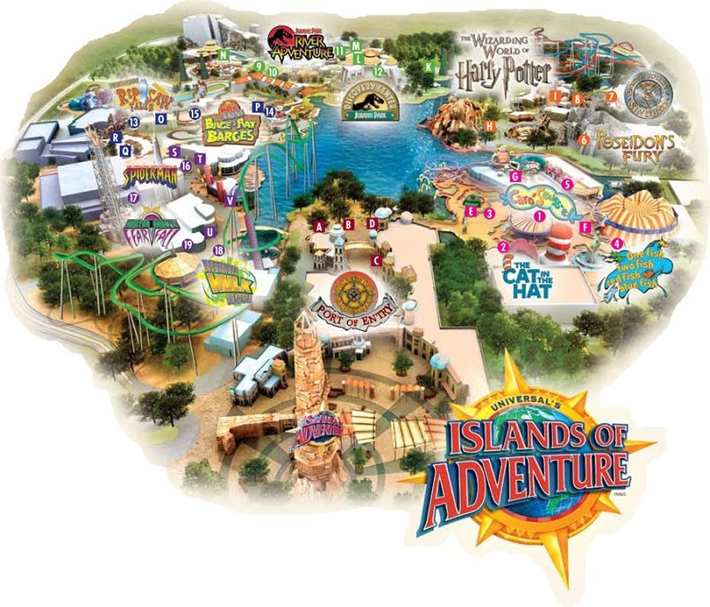 mapa de islands of adventure
