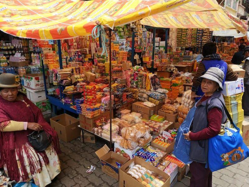 comer en Bolivia