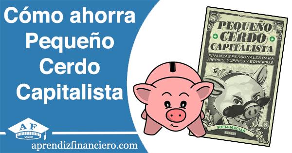 Pequeño cerdo capitalista ahorro