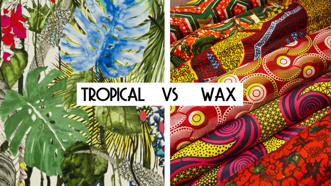 Tendance mode bijoux déco : Tropical VS Wax