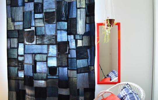 Recycler jean : rideau