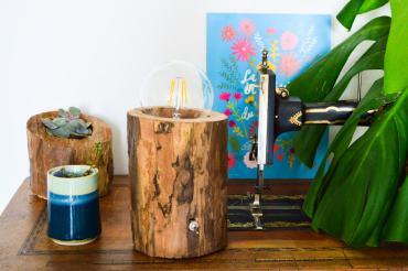 Transformer un tronc en lampe / DIY