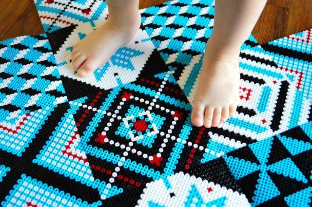 Créer un tapis en perles à repasser Hama / DIY Après la flemme
