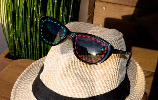DIY Broderie de lunettes de soleil / Après la flemme