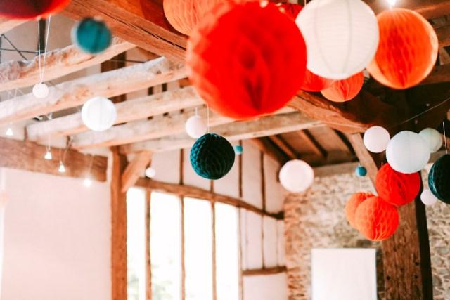 Déco plafond mariage Los du Ramo / Après la flemme