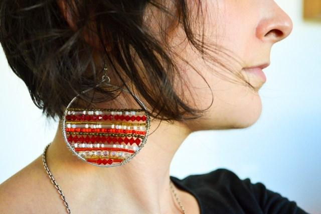 Boucles d'oreilles de Noël / DIY Après la flemme