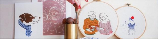 L'atelier broderie et linogravure de Marion Romain / Après la flemme Blog