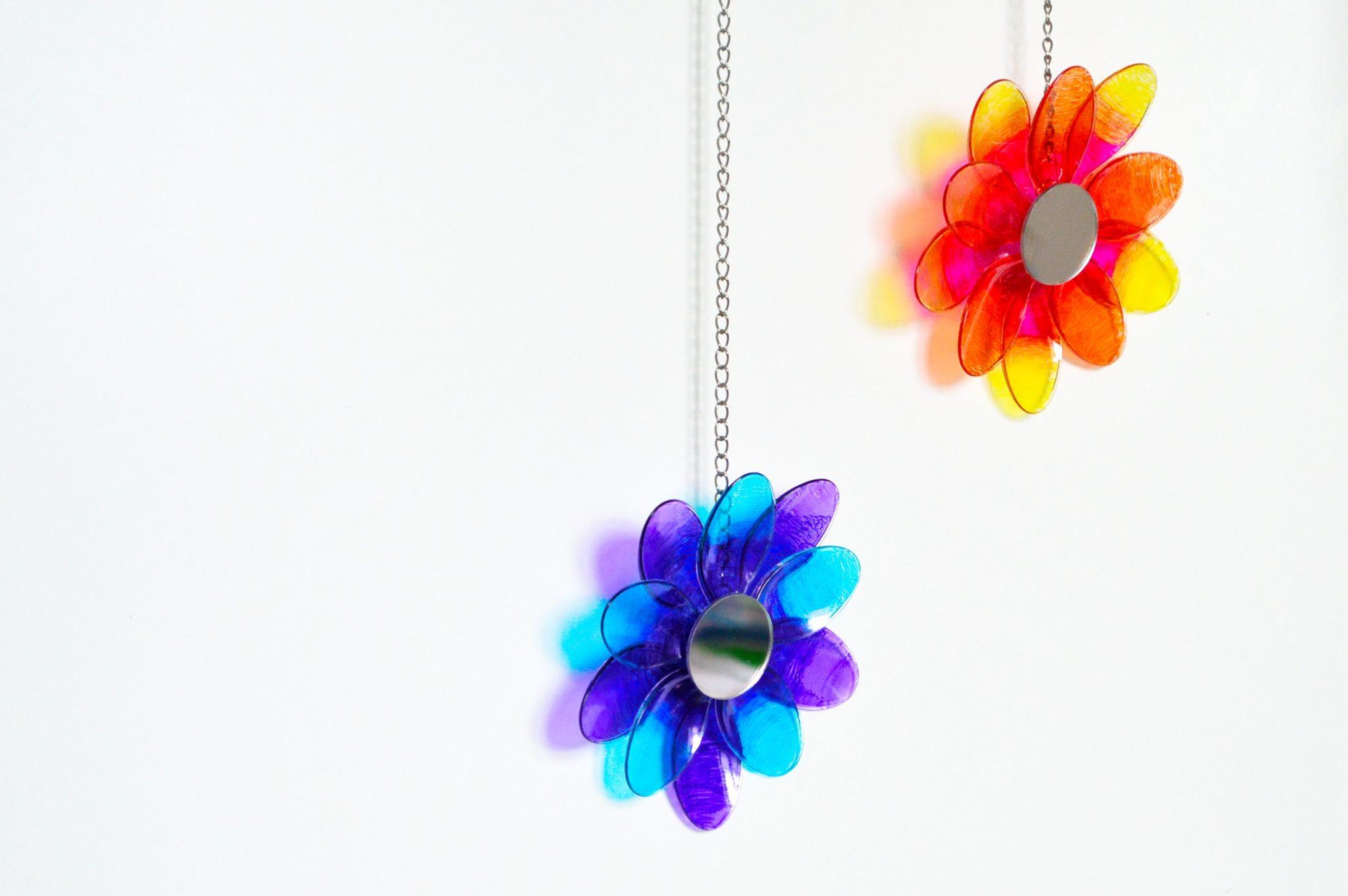 DIY Attrape-soleil recyclé - Suncatchers upcycling