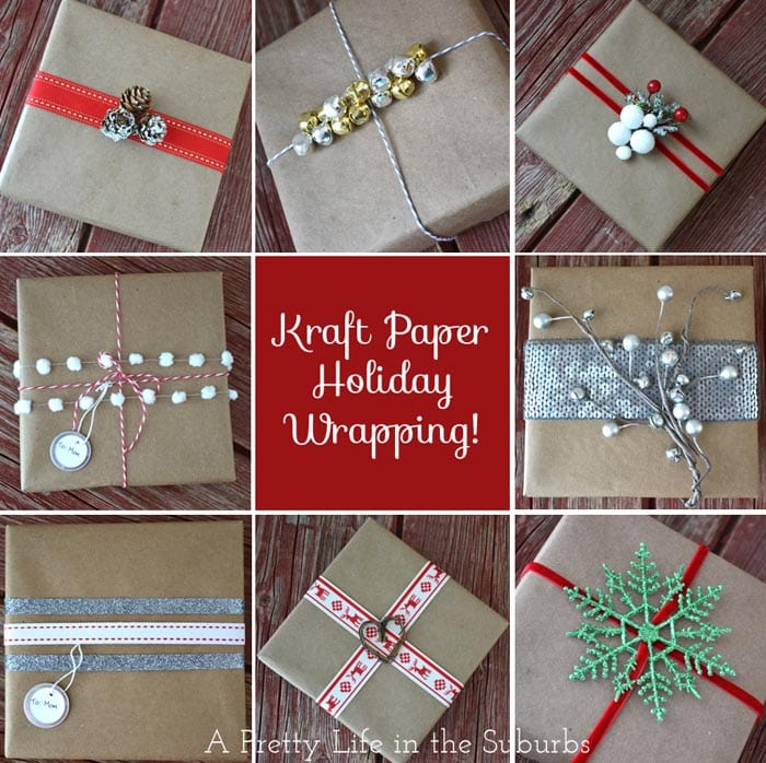 Holiday Gift Wrapping Ideas Part 1 Kraft Paper A