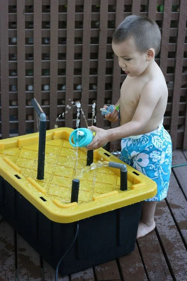 DIY-Water-Spray-Table-using-plastic-storage-bin-and-piping-from-Sew-Creative-2