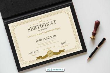 desain sertifikat jakarta elegan