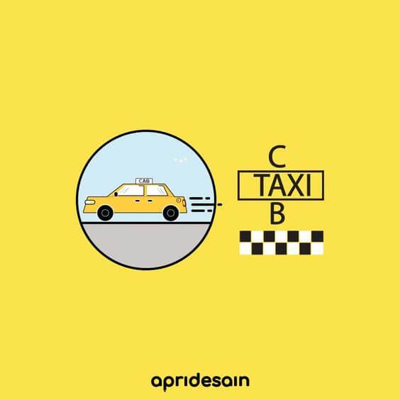 logo transportasi taksi