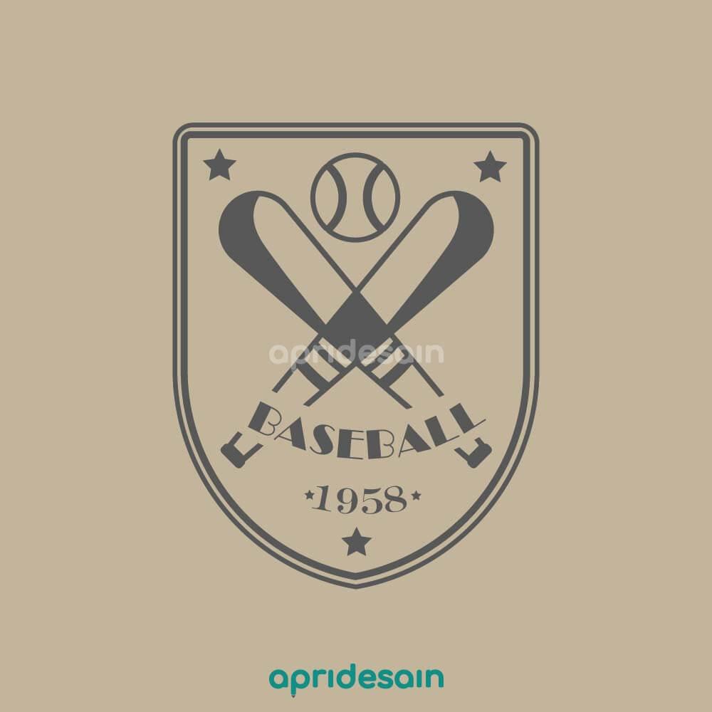 desain logo baseball tim