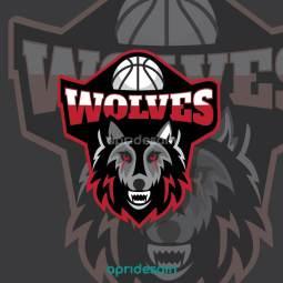 desain logo esport wolves