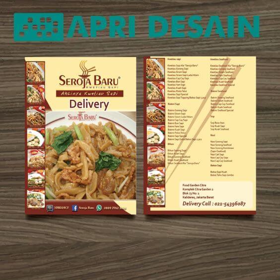 desain brosur rumah makan
