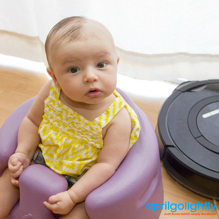 Roomba and the Bumbo meet! #BumboCares