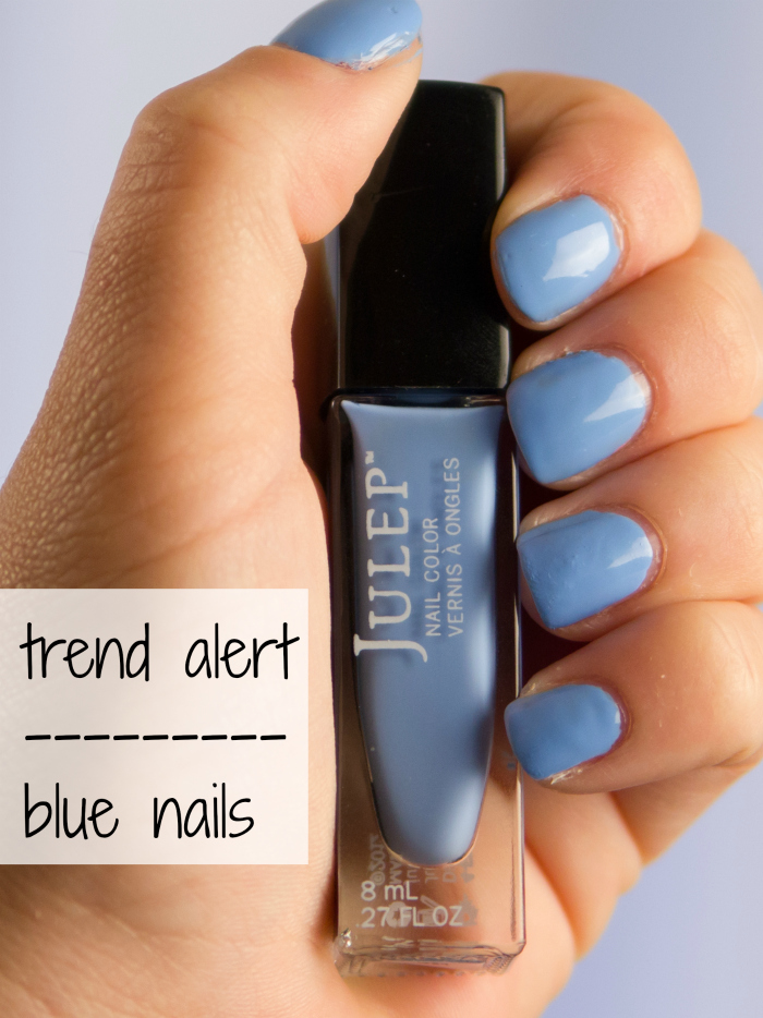 Trend Alert blue nails julep