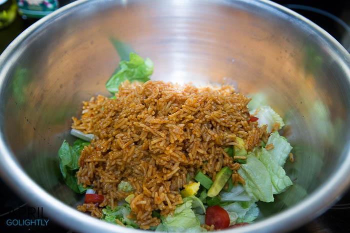 Chicken Burrito Bowl #TEArifficPairs #shop -1796