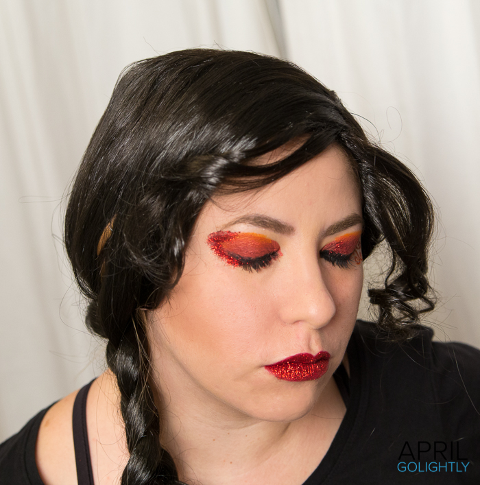 Red Glitter Eye Makeup-045811