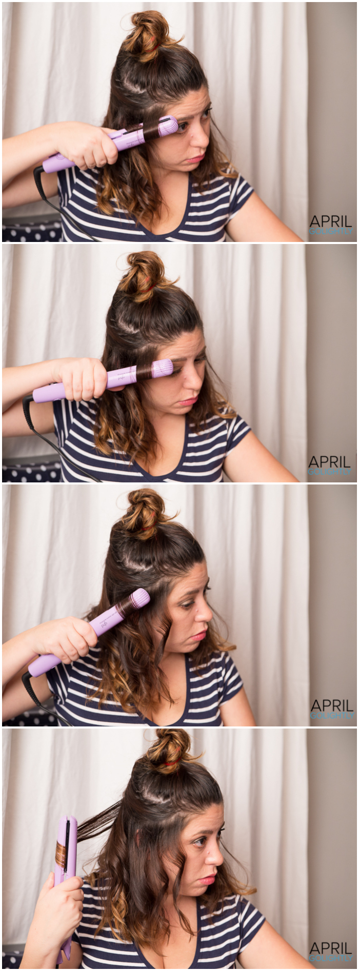 Using Flat Iron to Curl Hair