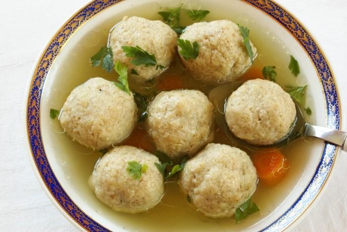 chicken soup with matzo balls by Jamie Geller