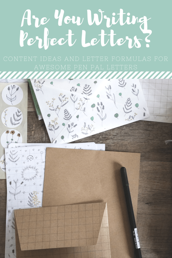 Are you writing perfect letters?