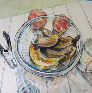 apples-and-banaynays-oil-pencil-on-bristol-paper-8x8-2016