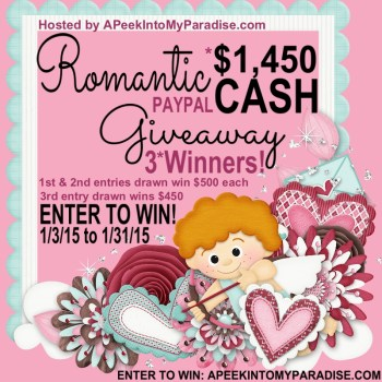 #Win $1,450 with this Romantic Cash #Giveaway!